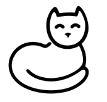 BW-catwhite